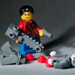 Lego zombie hunter; image via Kenny Louie on Flickr (Creative Commons)