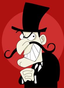 cartoon  caricature of a villain